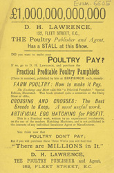 Advert for Practical Profitable Poultry Pamphlets